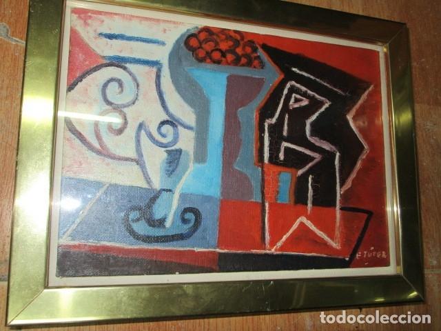Arte: PINTURA ANTIGUA CUBISTA OLEO CONTIENE FIRMA - Foto 5 - 174000637