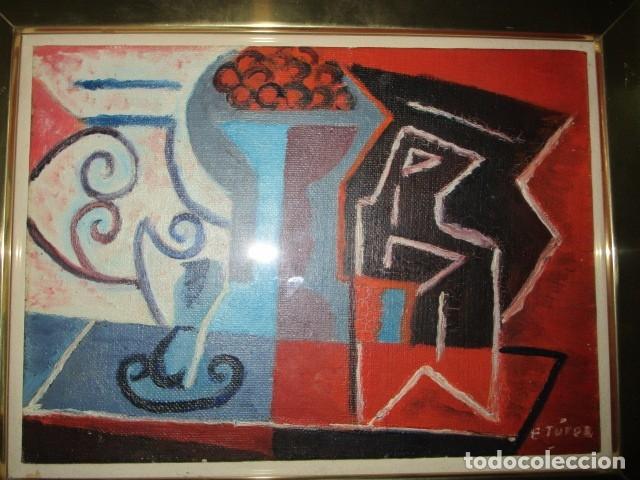 Arte: PINTURA ANTIGUA CUBISTA OLEO CONTIENE FIRMA - Foto 7 - 174000637