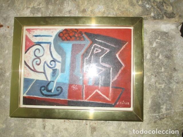 Arte: PINTURA ANTIGUA CUBISTA OLEO CONTIENE FIRMA - Foto 8 - 174000637