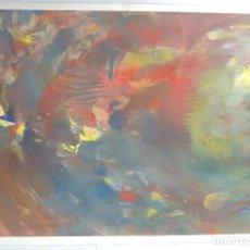 Arte: EXCELENTE ÓLEO SOBRE CARTULINA DEL CONOCIDO PINTOR Y ESCULTOR ALFREDO DIAZ DE CERIO, FIRMADA.. Lote 174009370
