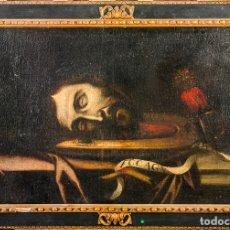Arte: CABEZA CERCENADA DE JUAN EL BAUTISTA (BARROCO TENEBRISTA ESCUELA SEVILLANA SIGLO XVII). Lote 174023452