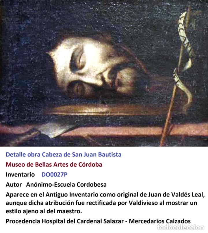 Arte: Cabeza cercenada de Juan el Bautista (Barroco Tenebrista escuela sevillana siglo XVII) - Foto 13 - 174023452