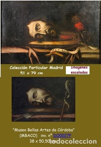 Arte: Cabeza cercenada de Juan el Bautista (Barroco Tenebrista escuela sevillana siglo XVII) - Foto 12 - 174023452