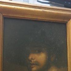 Arte: RETRATO DE CABALLERO SIGLO XIX OLEO SOBRE TABLA. Lote 174045694