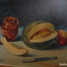 Art: OLEO SOBRE TABLERO BODEGON FIRMADO SANTA. Lote 174058704