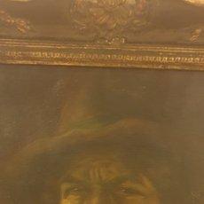 Arte: OLEO SOBRE LIENZO PERSONAJE CON PIPA PRINCIPIOS SIGLO XX. Lote 174100183