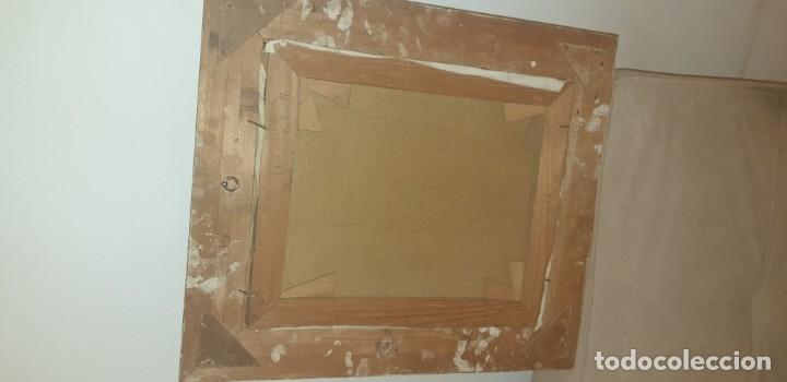 Arte: Pintura oleo sobre lienzo antigua firma ilegible - Foto 4 - 174100335