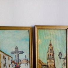 Arte: PAREJA DE CUADROS O/T DEL PINTOR CORDOBÉS RAFAEL ORTÍ. Lote 174168097