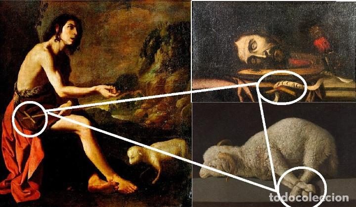 Arte: Cabeza cercenada de Juan el Bautista (Barroco Tenebrista escuela sevillana siglo XVII) - Foto 10 - 174023452