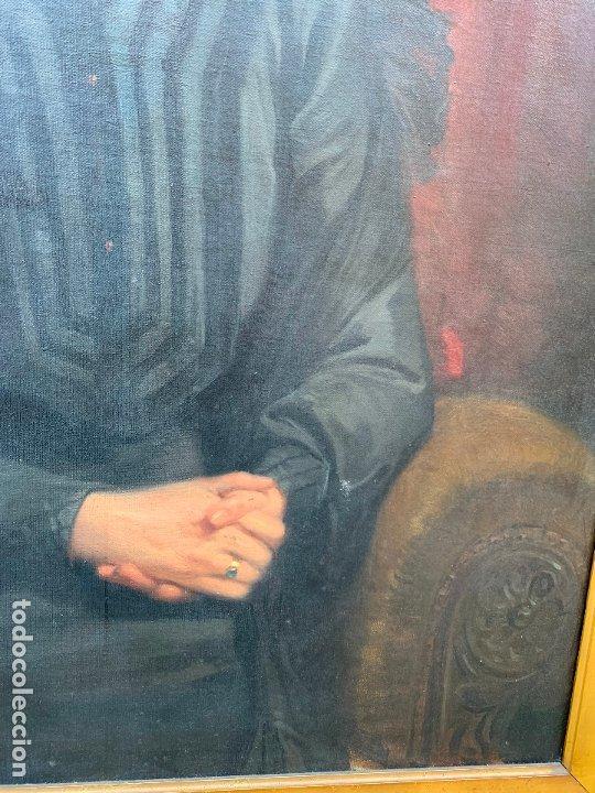 Arte: Excepcional oleo antiguo, de Julio Borrell, en gran formato y precioso marco. Leer mas - Foto 3 - 174305783