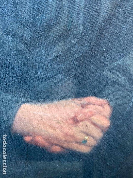 Arte: Excepcional oleo antiguo, de Julio Borrell, en gran formato y precioso marco. Leer mas - Foto 5 - 174305783