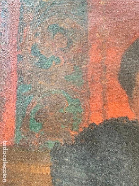 Arte: Excepcional oleo antiguo, de Julio Borrell, en gran formato y precioso marco. Leer mas - Foto 11 - 174305783