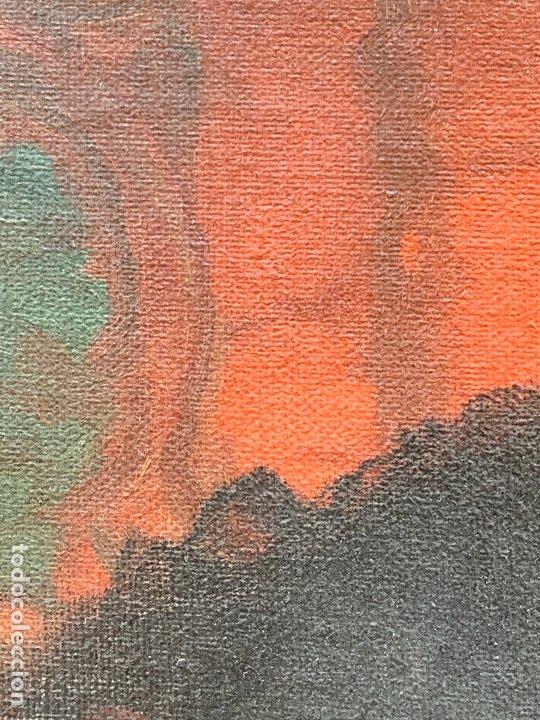 Arte: Excepcional oleo antiguo, de Julio Borrell, en gran formato y precioso marco. Leer mas - Foto 12 - 174305783