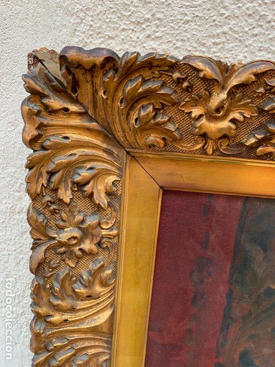 Arte: Excepcional oleo antiguo, de Julio Borrell, en gran formato y precioso marco. Leer mas - Foto 14 - 174305783