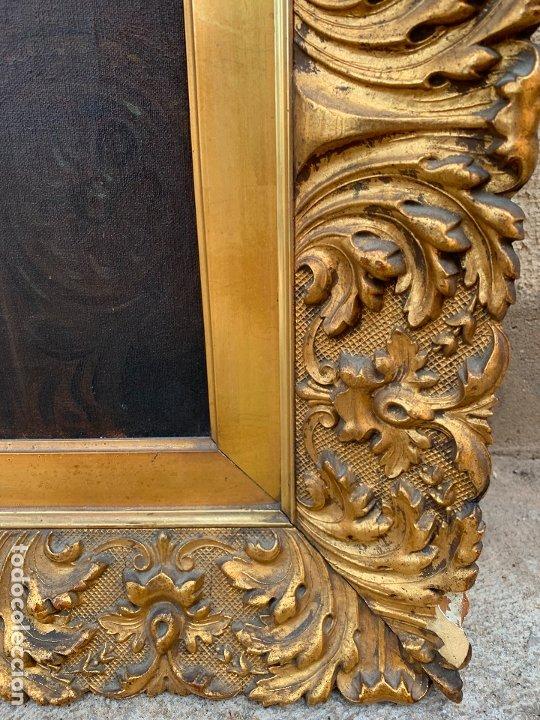 Arte: Excepcional oleo antiguo, de Julio Borrell, en gran formato y precioso marco. Leer mas - Foto 16 - 174305783