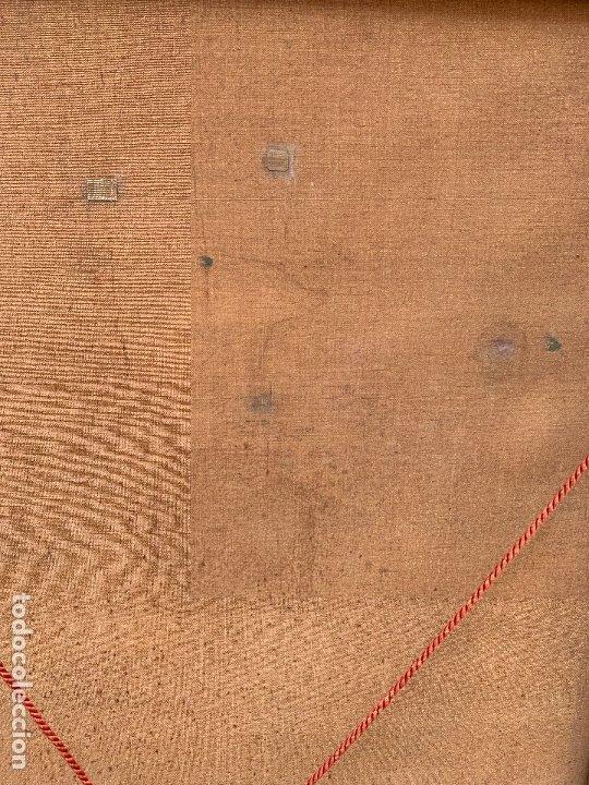 Arte: Excepcional oleo antiguo, de Julio Borrell, en gran formato y precioso marco. Leer mas - Foto 19 - 174305783