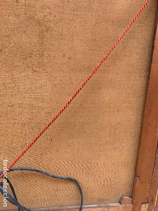 Arte: Excepcional oleo antiguo, de Julio Borrell, en gran formato y precioso marco. Leer mas - Foto 21 - 174305783