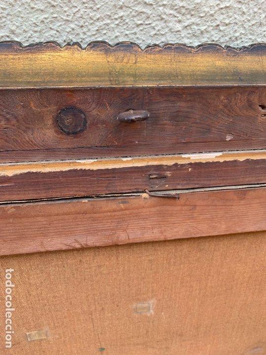 Arte: Excepcional oleo antiguo, de Julio Borrell, en gran formato y precioso marco. Leer mas - Foto 22 - 174305783