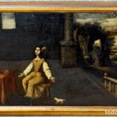 Arte: ELEGANTE CUADRO ÓLEO SOBRE TELA- ESCUELA ESPAÑOLA S XVII. Lote 174310034