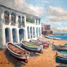 Arte: FRANCISCO CARBONELL MASSABÉ (1928-?) OLEO SOBRE TELA. PAISAJE (LAS VOLTAS - CALELLA DE PALAFRUGELL). Lote 174376213