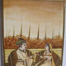 Arte: PINTURA HINDU - ESCENA PALACIEGA. Lote 174381317