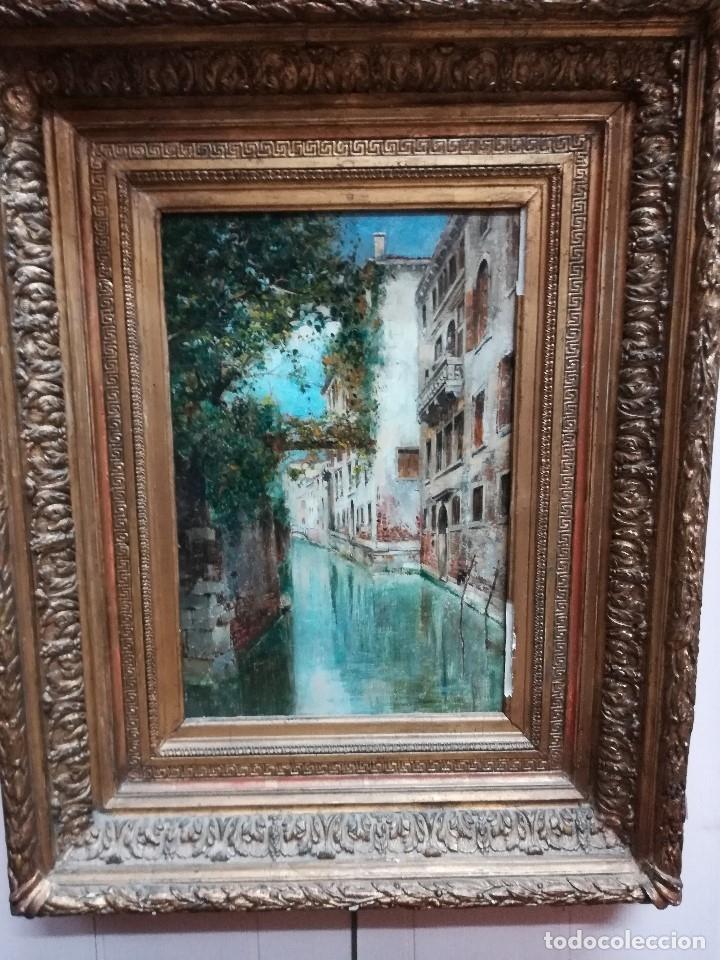 CANAL DE VENECIA , PINTADO POR RAFAEL SENEN PEREZ (Arte - Pintura - Pintura al Óleo Moderna siglo XIX)