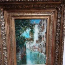 Arte: CANAL DE VENECIA , PINTADO POR RAFAEL SENEN PEREZ. Lote 174382845