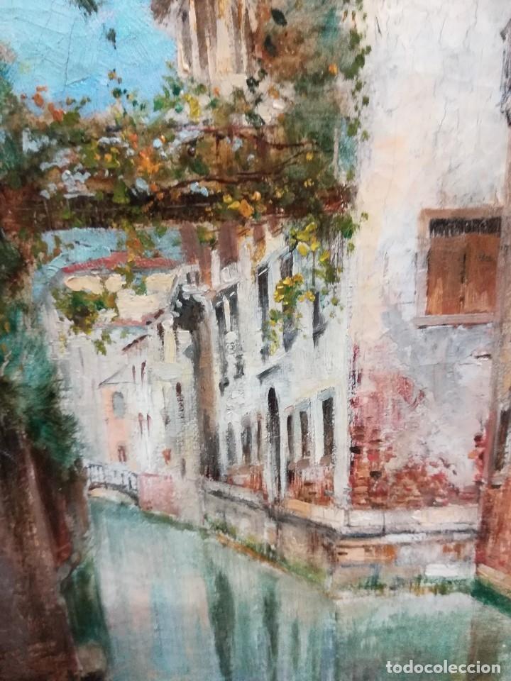 Arte: Canal de venecia , pintado por Rafael Senen Perez - Foto 2 - 174382845