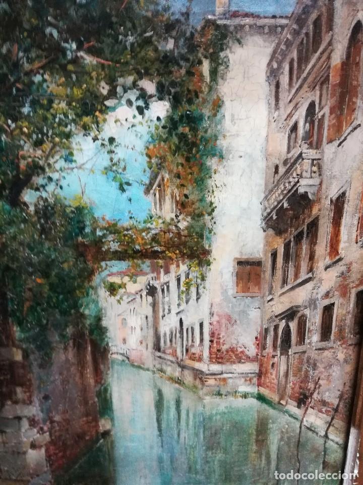 Arte: Canal de venecia , pintado por Rafael Senen Perez - Foto 3 - 174382845