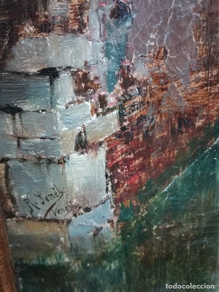 Arte: Canal de venecia , pintado por Rafael Senen Perez - Foto 4 - 174382845