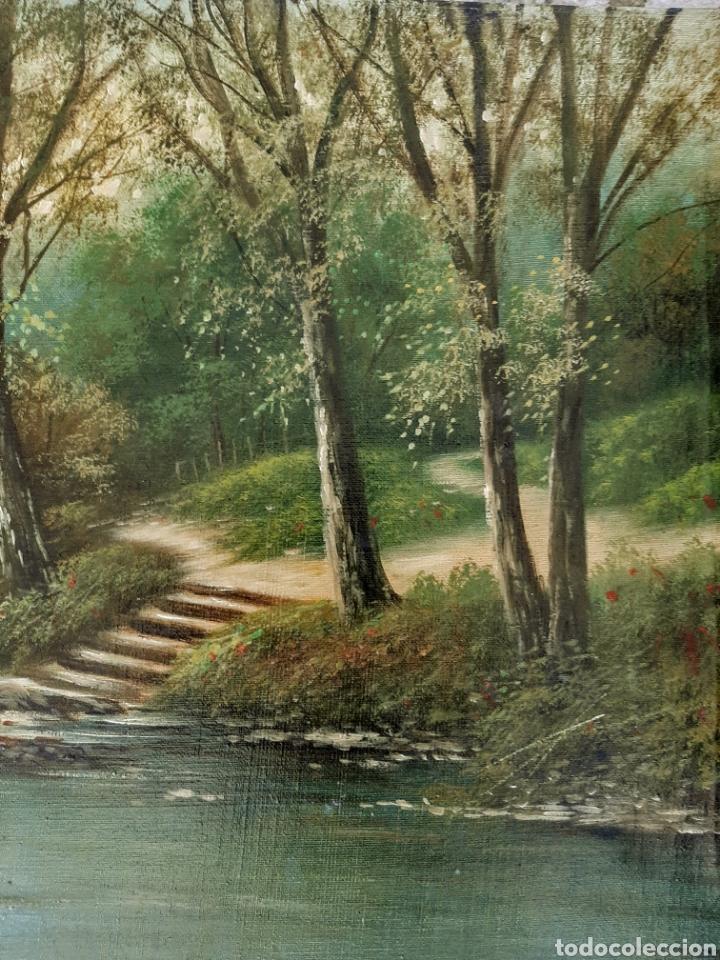 Arte: Anonimo : casa a la orilla del rio. ( Escuela Inglesa ) - Foto 2 - 174429045