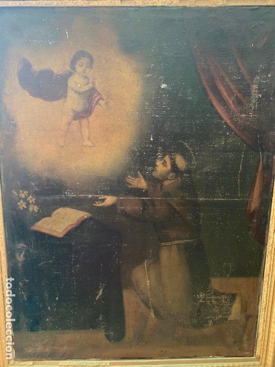 Arte: OLEO SOBRE LIENZO FINAL SIGLO XVIII SAN ANTONIO - MEDIDA MARCO 90X70 CM - RELIGIOSO - Foto 2 - 174459385