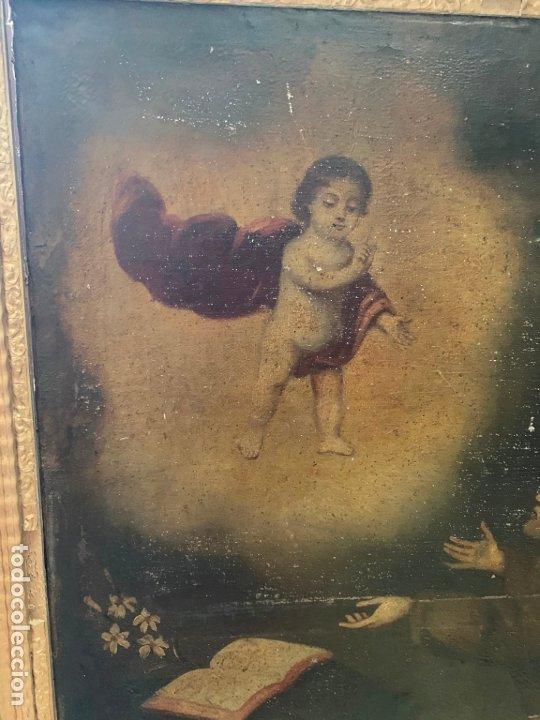 Arte: OLEO SOBRE LIENZO FINAL SIGLO XVIII SAN ANTONIO - MEDIDA MARCO 90X70 CM - RELIGIOSO - Foto 3 - 174459385