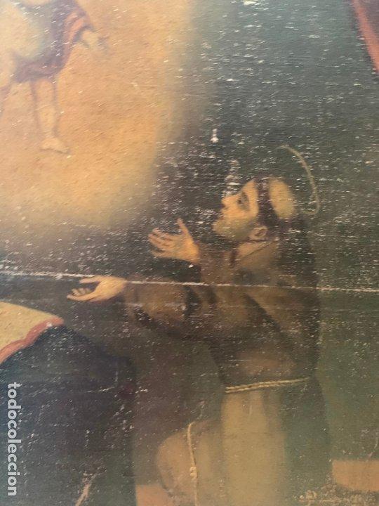 Arte: OLEO SOBRE LIENZO FINAL SIGLO XVIII SAN ANTONIO - MEDIDA MARCO 90X70 CM - RELIGIOSO - Foto 7 - 174459385
