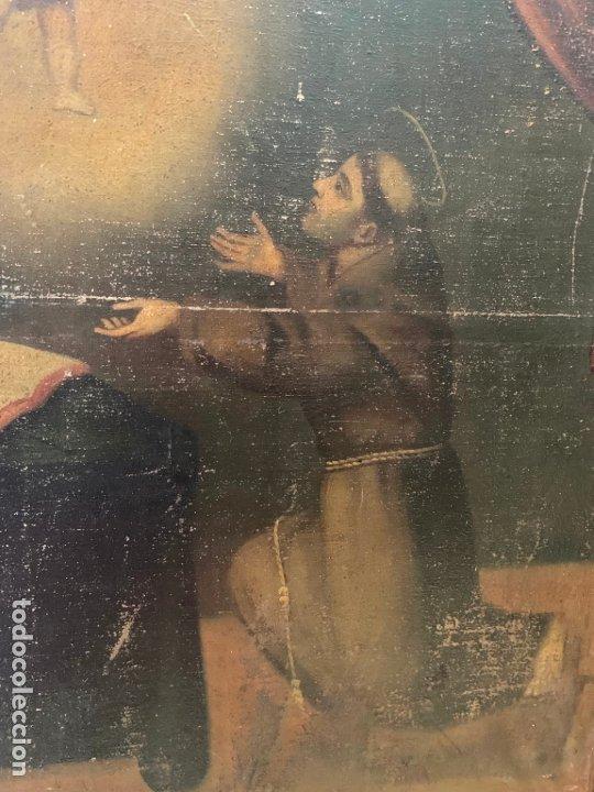 Arte: OLEO SOBRE LIENZO FINAL SIGLO XVIII SAN ANTONIO - MEDIDA MARCO 90X70 CM - RELIGIOSO - Foto 8 - 174459385