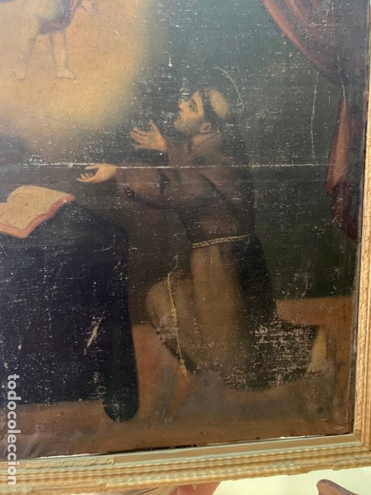 Arte: OLEO SOBRE LIENZO FINAL SIGLO XVIII SAN ANTONIO - MEDIDA MARCO 90X70 CM - RELIGIOSO - Foto 10 - 174459385