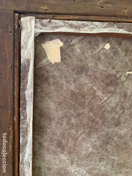 Arte: OLEO SOBRE LIENZO FINAL SIGLO XVIII SAN ANTONIO - MEDIDA MARCO 90X70 CM - RELIGIOSO - Foto 18 - 174459385