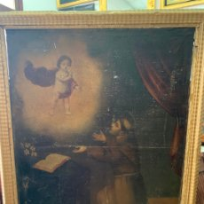 Arte: OLEO SOBRE LIENZO FINAL SIGLO XVIII SAN ANTONIO - MEDIDA MARCO 90X70 CM - RELIGIOSO. Lote 174459385