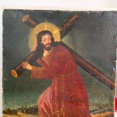 Arte: MAGNIFICO OLEO SOBRE LIENZO RELIGIOSO JESUS NAZARENO - MEDIDA 105X85 CM. Lote 174460600