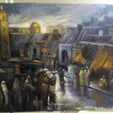 Arte: JOLOGA. ZOCO MORUNO. ÁRABE ORIENTALISTA. LIENZO 81X65.. Lote 174473669