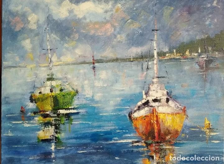 ÓLEO .MARINA (Arte - Pintura Directa del Autor)