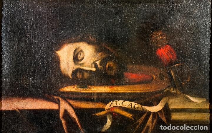 Arte: Cabeza cercenada de Juan el Bautista (Barroco Tenebrista escuela sevillana siglo XVII) - Foto 14 - 174023452