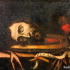Arte: CABEZA DE SAN JUAN BAUTISTA -1630-1650 E.V. - ATRIBUIDO A FRANCISCO DE ZURBARÁN. Lote 174023452