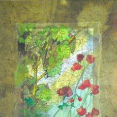 Arte: MATEO COLLAGE (VIÑAS Y AMAPOLAS 41X33 CMS). Lote 174530212