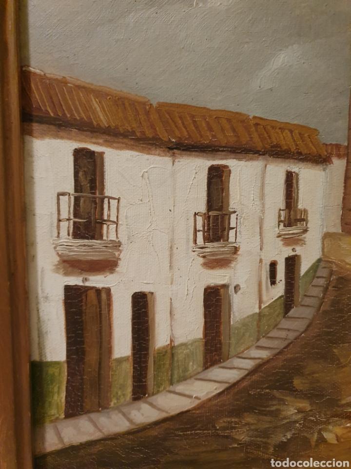 Arte: OLEO SOBRE LIENZO CALLE DE UN PUEBLO FIRMADO AMODEO - Foto 2 - 163894136