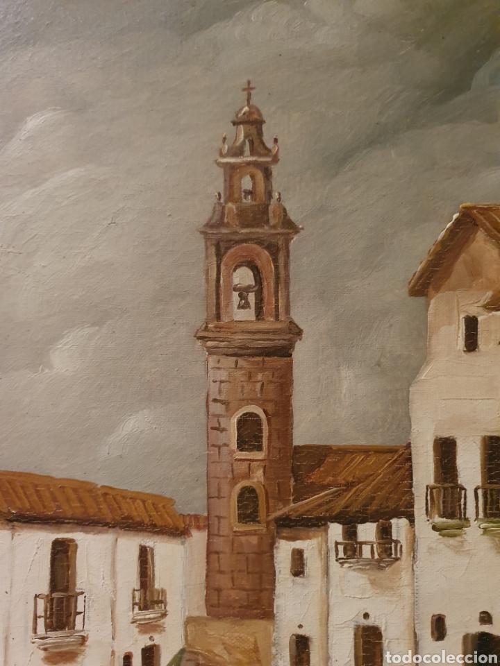 Arte: OLEO SOBRE LIENZO CALLE DE UN PUEBLO FIRMADO AMODEO - Foto 3 - 163894136
