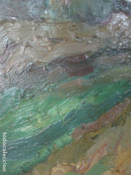 Arte: Pintura al Óleo sobre Tela - Paisaje - Firma Manuel Solá - Foto 3 - 174860713