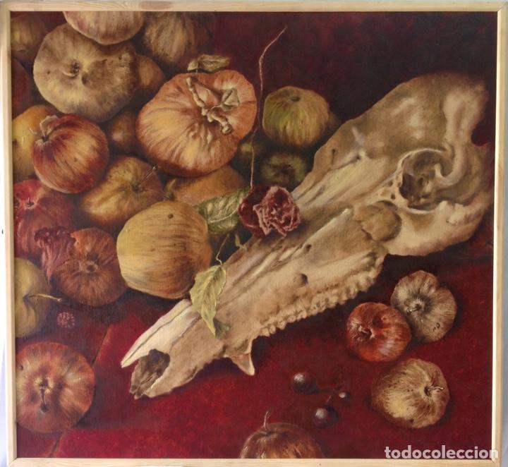 TANATURALEZA. ÓLEO SOBRE TABLERO. FORMATO MEDIANO. 72 X 77 CM. (Arte - Pintura Directa del Autor)