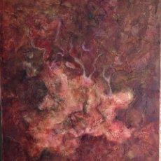 Arte: ABSTRACTO EN TONOS ROJOS. TÉCNICA MIXTA SOBRE LIENZO. GRAN FORMATO. 81 X 100 CM.. Lote 174957304