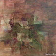 Arte: ABSTRACTO EN TONOS ROJOS. TÉCNICA MIXTA SOBRE LIENZO, PEQUEÑO FORMATO. 46 X 55 CM.. Lote 174957800